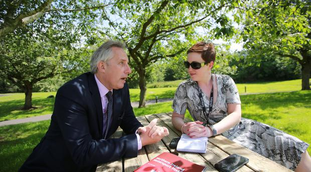 Ian Paisley speaking to Belfast Telegraph's Lauren Harte