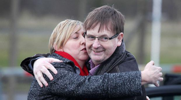 Willie Frazer with his wife, Ann