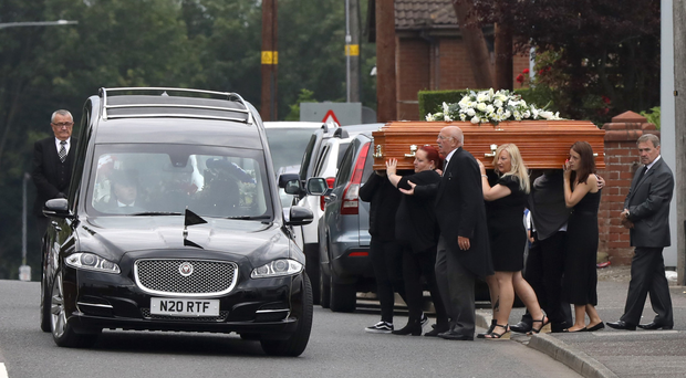 The funeral of Paul Smyth took place at St Patrick's Church in Lisburn on Saturday afternoon
