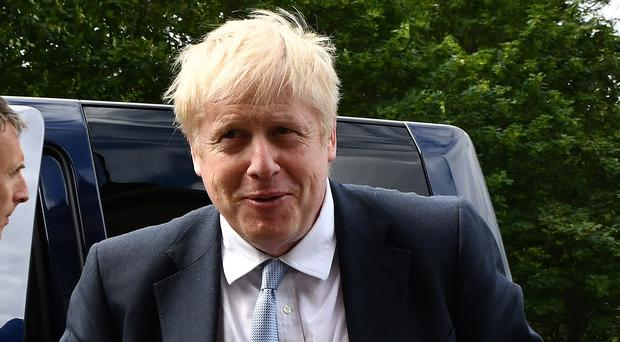 Boris Johnson at a hustings event in Belfast