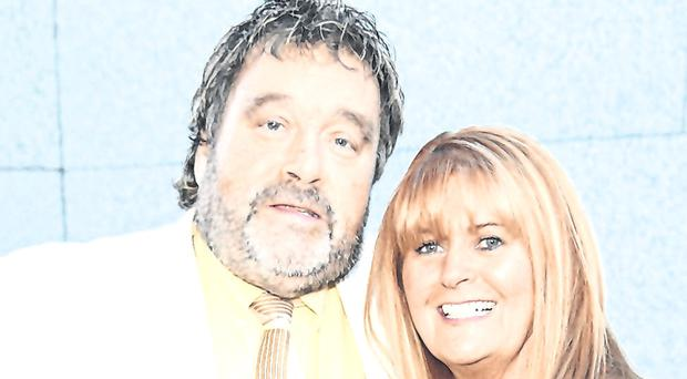 Comedian Brendan Grace and his wife Eileen