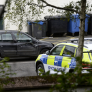 Police at the scene of blast at Mill Street in Cushendall