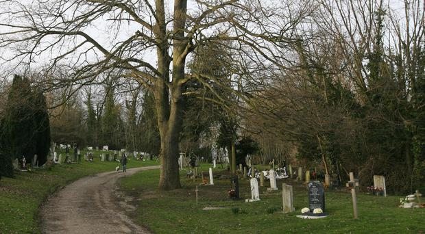 The family has asked people to join them at the cemetery on Sunday for a gathering to mark the 28th day of notice to remove the headstone (stock photo)