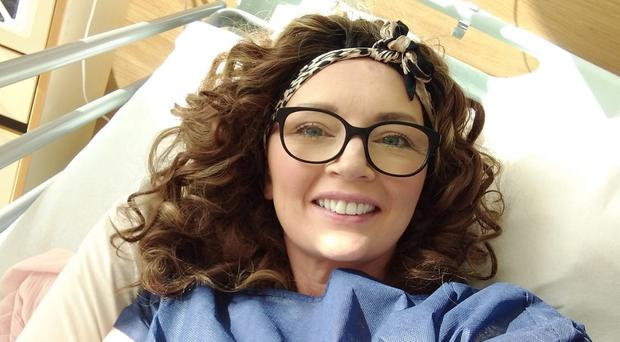Lesley Kennedy in her hospital bed