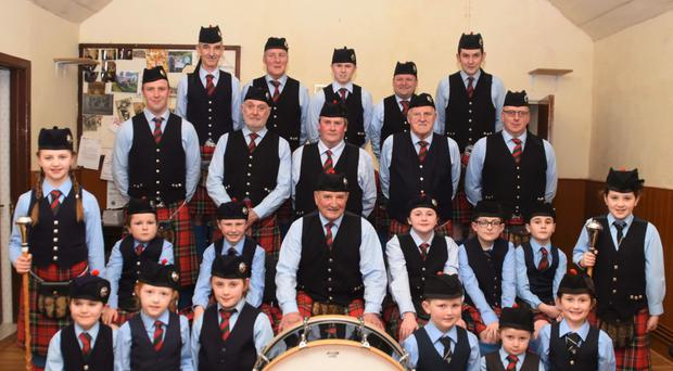 Hollymount Pipe Band is taking part in today's parade in Crossgar