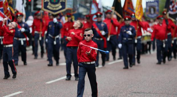 Bandsmen young and old took part (Brian Lawless/PA)