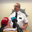 PSNI chief constable Simon Byrne gives a press conference (David Young/PA)