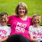 Sarah McCandless and nephews Frankie and David will take part in Cancer Research UK's Pretty Muddy and Pretty Muddy Kids event in memory of her mum, Ann McCandless