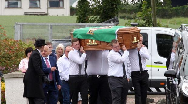 The funeral yesterday of Ross Willets