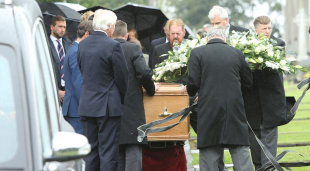 The funeral takes place of Paddy Allen at St John's Parish Church in Moira