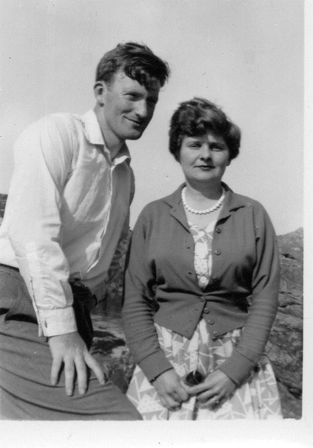 Rory with his wife Joan 70 years ago
