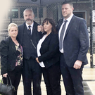 Members of the Lauro family outside court yesterday