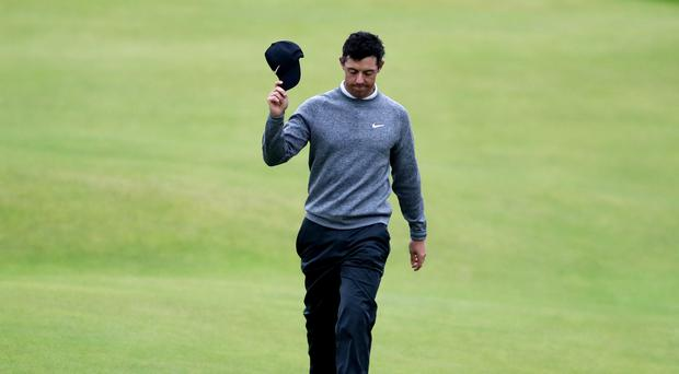Rory McIlroy missed the cut by one shot (David Davies/PA)