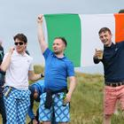 Supporters of Shane Lowry at Portrush (Richard Sellers/PA)