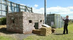 The wartime pillbox at The Oval