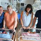 Two sets of triplets have been born within 24 hours at a hospital in Northern Ireland (South Eastern Health Trust/PA)
