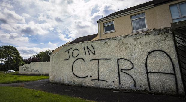 Graffiti in the Laurelbank estate in west Belfast