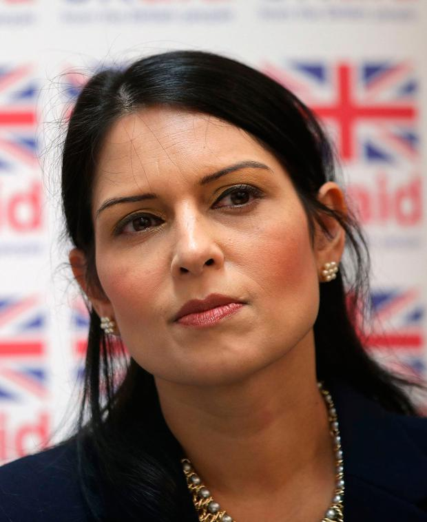 Home Secretary Priti Patel, who was also targeted