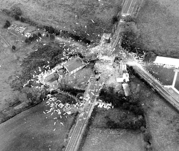 The aftermath of the explosion in October, 1990