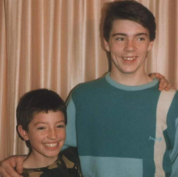 Paul with his younger brother Lee