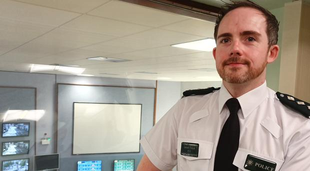 Chief Inspector Gerard Pollock from the PSNI's Contact Management Branch has urged those behind hoax calls to stop, revealing seven hours of police time is spent every day dealing with such calls. (Rebecca Black/PA)