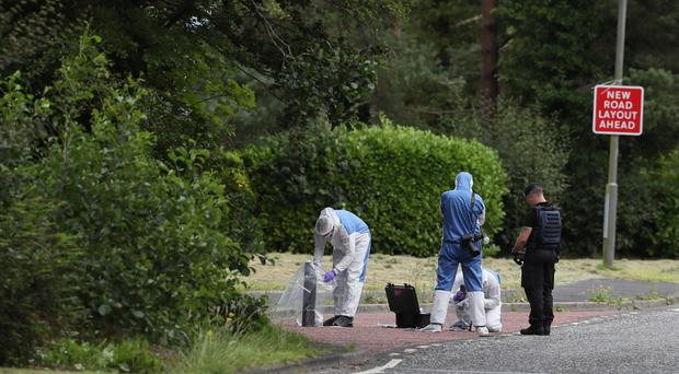 Police asked anyone who saw any unusual activity or vehicles acting suspiciously in the area of Tullygally Road on Friday night or in recent days or weeks to get in touch (Brian Lawless/PA).