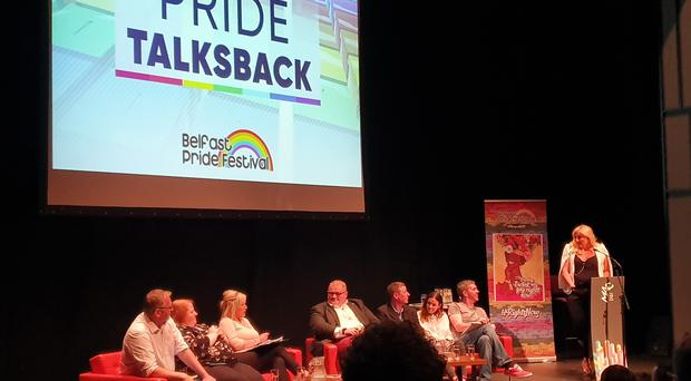 All of Northern Ireland's parties with the exception of the DUP took part in the Pride Talks Back debate at the MAC in Belfast (Rebecca Black/PA)