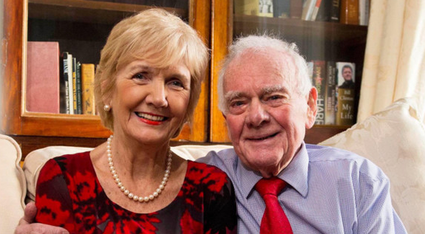 The Belfast Telegraph's Eddie McIlwaine with his wife Irene