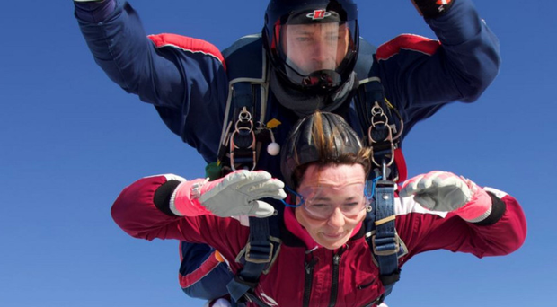 Gillian Kennedy in free fall over Co Antrim