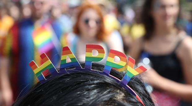 The Belfast Pride parade takes place on Sunday (PA)