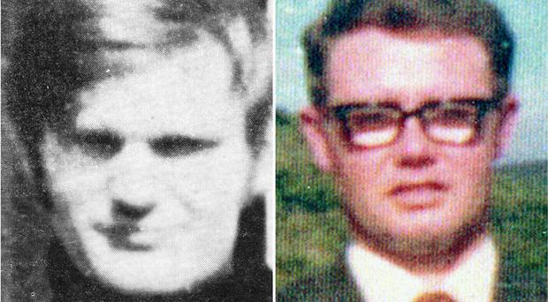 The soldier is accused of the murder of James Wray, left and William McKinney on Bloody Sunday (Bloody Sunday Trust/PA)