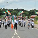 The National Hunger Strike parade from Lifford to Strabane