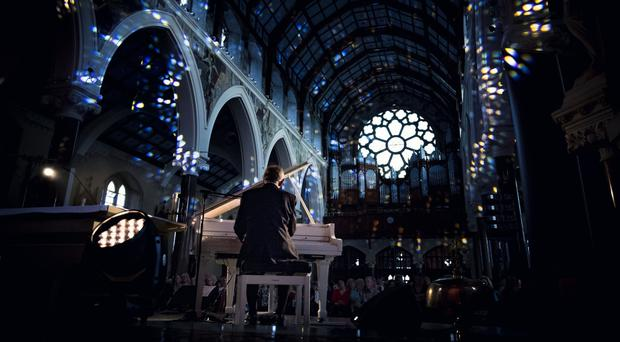 Musician Phil Coulter played to a packed Clonard Monastery in Belfast