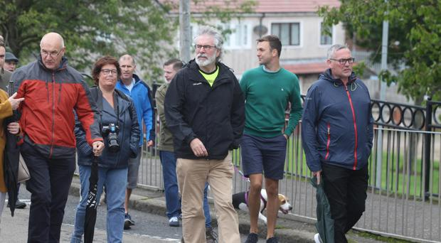 Gerry Adams at the New Lodge last Saturday