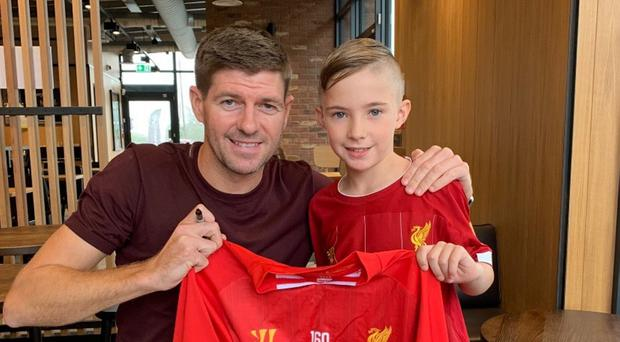 Jack meeting Steven Gerrard