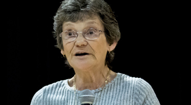 Gina Murray at the play What If at Feile in St Mary's University College, Belfast