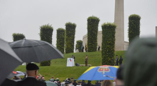 General view of a Royal British Legion event at the National Memorial Arboretum in Staffordshire to mark the 50th anniversary of the UK Armed Forces' deployment in Northern Ireland.