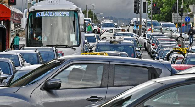 Traffic chaos in Belfast at rush hour on Wednesday following a multi-vehicle collision on the Westlink
