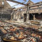 The burnt out remains of the former Anamar Primary School in Co Armagh