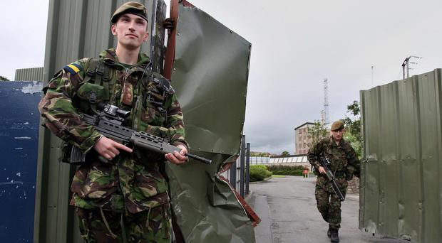 British troops on the streets in N Ireland (Paul Faith/PA)