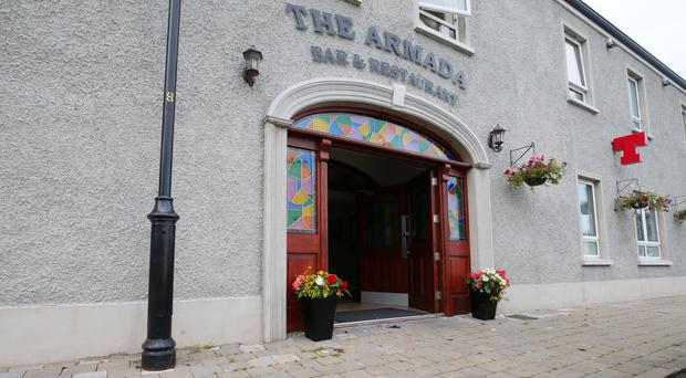 Trouble erupted outside The Armada bar and restaurant in Armoy
