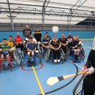 Paralympic gold medallist Kelly Gallagher swapped her skis for the hurley stick as she joined a wheelchair hurling project in Mid Ulster. Presseye/Handout/PA)