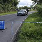 PSNI at the scene of the attack on the Cavan Road in Fermanagh on Monday