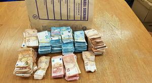 Just over 400,000 euro in cash has been recovered (An Garda Siochana/PA)