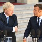 Prime Minister Boris Johnson with French President Emmanuel Macron (Stefan Rousseau/PA)