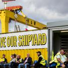 Administrators say they have received a number of expressions of interest in the Harland and Wolff shipyard (Liam McBurney/PA)