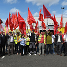 The rally at Harland & Wolff yesterday