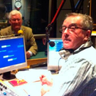 Sean Coyle on air with comedian Roy Walker