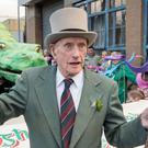 Strabane's Pat Gillespie leading the town's St Patrick's Day Spring Carnival parade