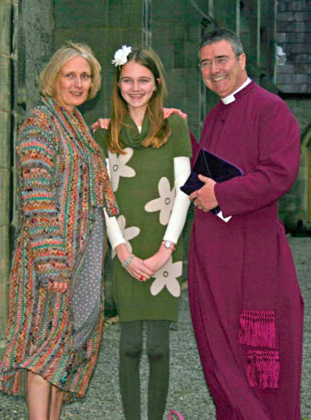 The bishop with his wife Mary and their daughter Dorothy